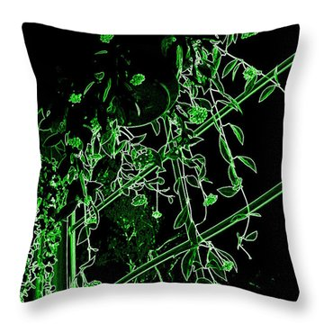Throw Pillow featuring the photograph Hanging Plants In Window by Renee Trenholm