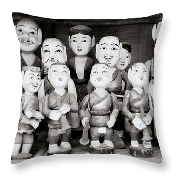 Hanoi Water Puppets Throw Pillow