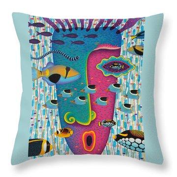 Happiness 3 Throw Pillow by Opas Chotiphantawanon
