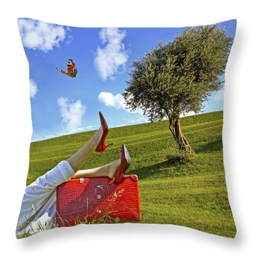 Happiness Of Summer Throw Pillow by Joana Kruse
