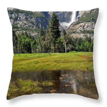 Throw Pillow featuring the photograph Happy Campers by Lynn Bauer