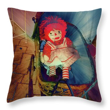 Happy Dolly Throw Pillow by Susanne Van Hulst