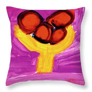 Happy Fruit Throw Pillow