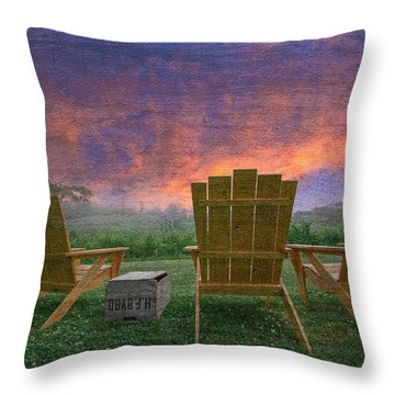 Happy Hour Throw Pillow by Debra and Dave Vanderlaan