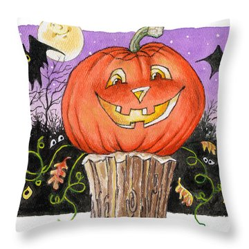 Happy Jack Throw Pillow by Richard De Wolfe