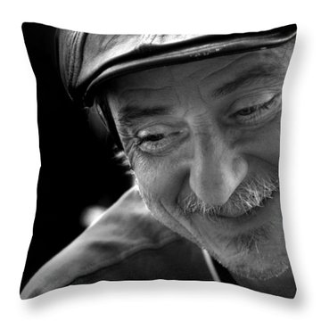 Happy Man Throw Pillow