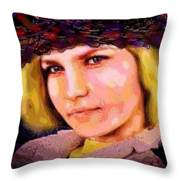 Happy Smile Throw Pillow by Natalie Holland