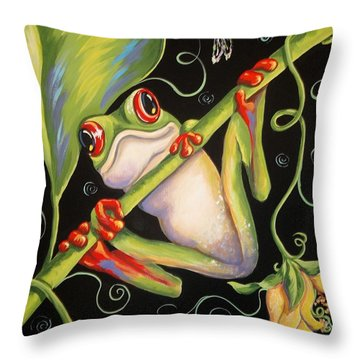 Happy Thoughts Throw Pillow by Sandra Lett