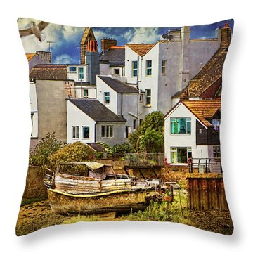 Harbor Houses Throw Pillow by Chris Lord