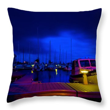 Harbor Nights Throw Pillow
