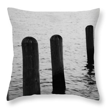 Throw Pillow featuring the photograph Harbor Ties by Tony Cooper