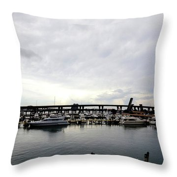 Throw Pillow featuring the photograph Harbours by Pravine Chester