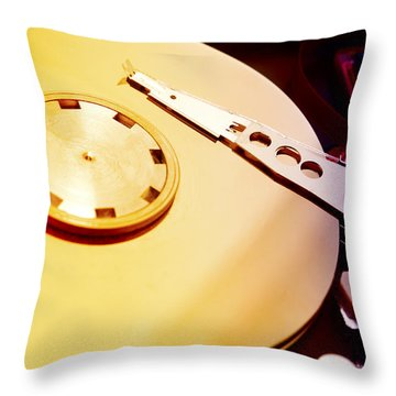 Hard Disk Detail Throw Pillow