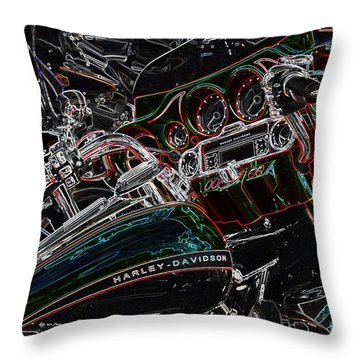 Harley Davidson Style 4 Throw Pillow