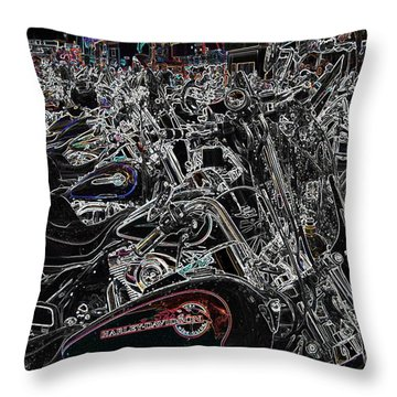 Harley Davidson Style Throw Pillow