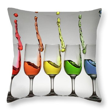 Harmonic Cheers Throw Pillow by William Lee