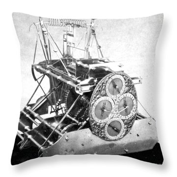 Harrisons First Marine Timekeeper Throw Pillow by Photo Researchers