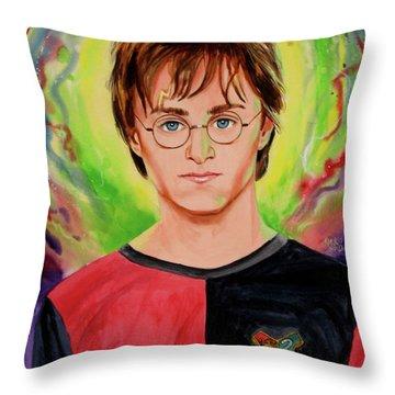 Harry Potter Throw Pillow by Ken Meyer
