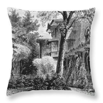 Hartford: Armsear Mansion Throw Pillow by Granger