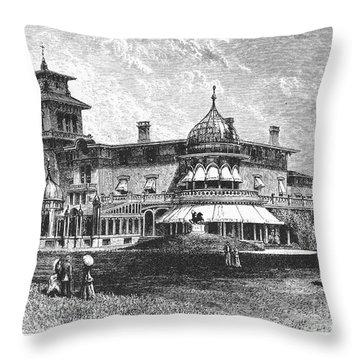 Hartford: Armsmear Mansion Throw Pillow by Granger