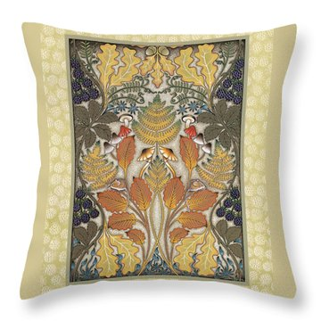 Harvest Hedgerow Throw Pillow by Isobel  Brook Haslam