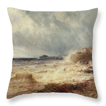 Hastings Throw Pillow by Gustave de Breanski
