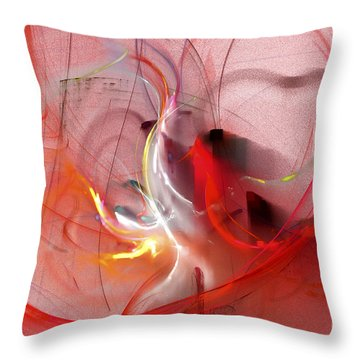 Throw Pillow featuring the digital art Haunted Hearts by Victoria Harrington