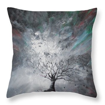 Haunted Tree Throw Pillow