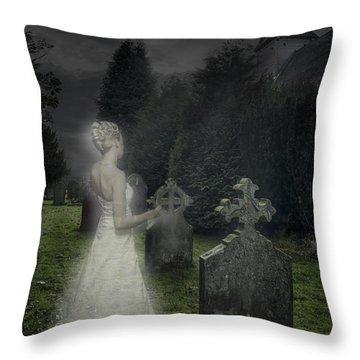 Haunting Throw Pillow by Amanda Elwell