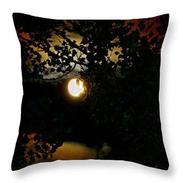Throw Pillow featuring the photograph Haunting Moon IIi by Jeanette C Landstrom