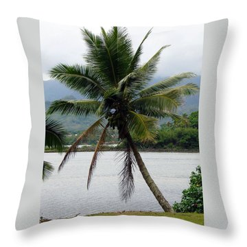 Throw Pillow featuring the photograph Hawaiian Palm by Athena Mckinzie