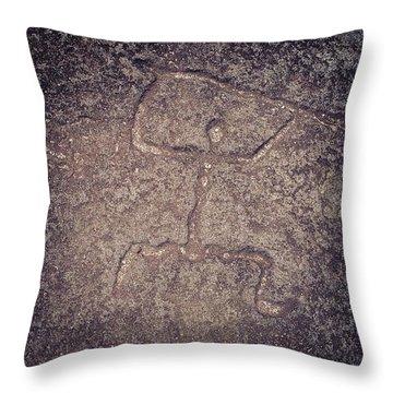Hawaiian Petroglyph Throw Pillow