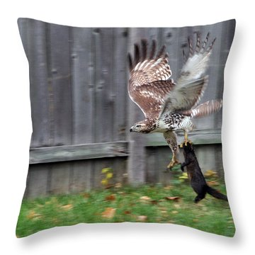 Hawk The Hunter Throw Pillow