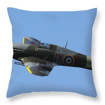 Hawker Hurricane Throw Pillow by Ken Brannen