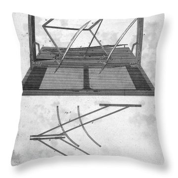 Hawkins Polygraph, 1803 Throw Pillow by Granger