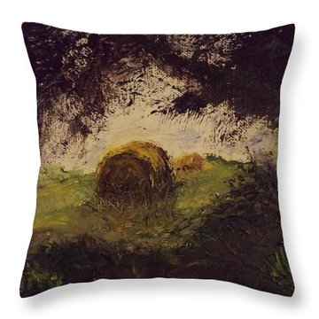 Hay Bale Throw Pillow