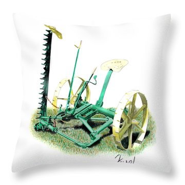 Hay Cutter Throw Pillow
