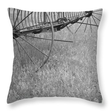 Hay Rake  Throw Pillow by Wilma  Birdwell