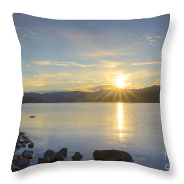 Hayden Sunrise Throw Pillow