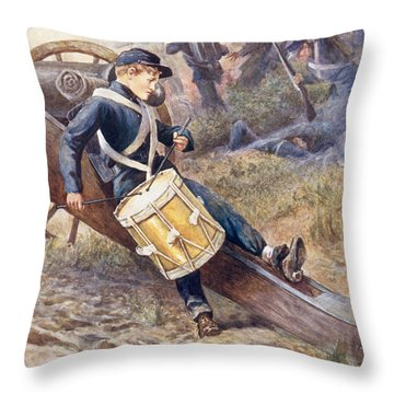 He Crawled Behind A Cannon And Pale And Paler Grew Throw Pillow by William Henry Charles Groome