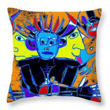 He Felt One With The Universe Throw Pillow