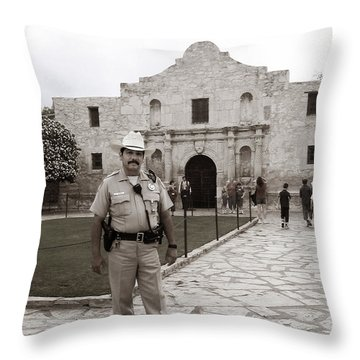 He Guards The Alamo Throw Pillow