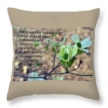 Throw Pillow featuring the photograph He Saved Us by Larry Bishop