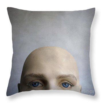 Head Of A Dummy. Throw Pillow by Bernard Jaubert