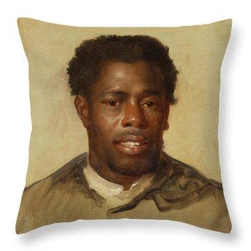 Head Of A Man Throw Pillow by John Singleton Copley