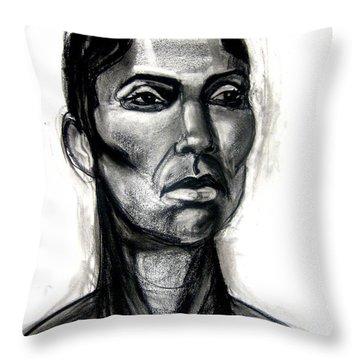 Head Study Throw Pillow