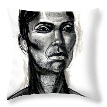 Head Study Throw Pillow