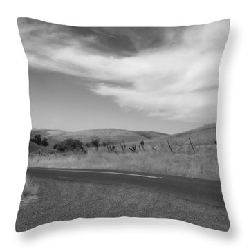 Throw Pillow featuring the photograph Heading Inland by Kathleen Grace