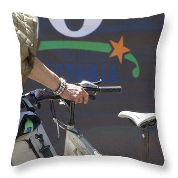 Heading Somewhere Throw Pillow by Marilyn Wilson