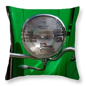 Headlight Throw Pillow by Vivian Christopher